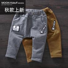 查看一两岁男童秋装休闲裤0-1-2-3岁男宝宝军绿灰黑色背带裤长裤子潮