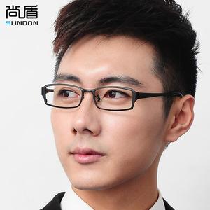 尚盾SUNDON 纯钛眼镜架 男近视超轻大脸镜框近视全框眼镜 镜架108