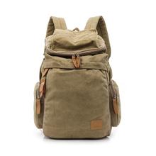 帆布双肩背包15.6/17英寸男女笔记本电脑包户外旅行包正品韩版潮