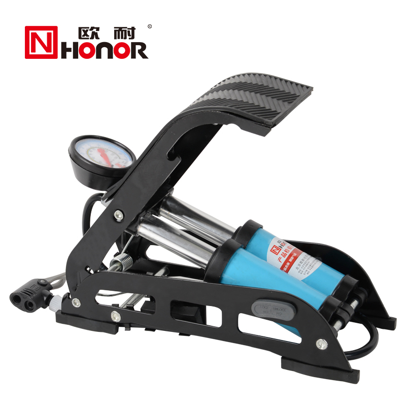 欧耐 脚踏打气筒高压便携式自行车电动车摩托车汽车脚踩 充气泵