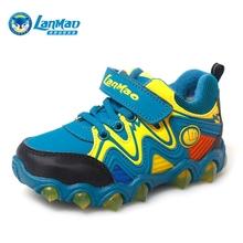 查看蓝猫正品童鞋2015冬季新款男童高帮加绒保暖户外儿童运动鞋29016
