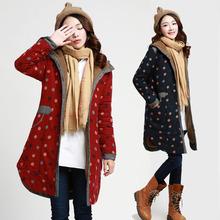 查看2015秋冬新款韩版棉布长袖中长款棉服羊毛加厚外套女装上衣棉衣潮