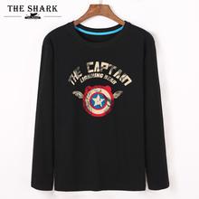 查看复仇者联盟2美国队长男士卡通长袖T恤个性恶搞青少年纯棉打底衫秋