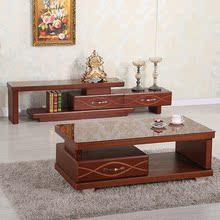 枫霖fenglin电视柜简约伸缩地柜影视柜钢化玻璃电视柜茶几组合D90