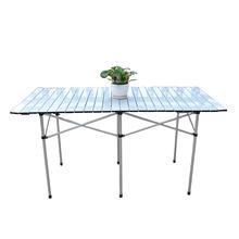 虎鹿 铝卷桌 铝合金 折叠桌椅 折叠铝桌折叠桌便携式