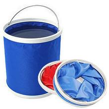 11升多功能便携式折叠水桶 户外水桶 车载水桶 旅游车用水桶
