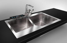 保食安(Bossan)304不锈钢家用食品净化水槽C608双槽杀菌解毒正品