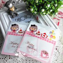查看韩版卡通甜美饼干自封袋 糖果蛋糕袋礼品手工皂包装袋满15元包邮