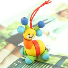 新生儿婴儿铃铛摇铃木制串铃手摇铃宝宝音乐玩具婴儿益智玩具