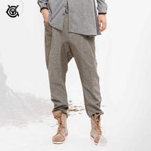 VGO 男士潮流时尚撞色休闲裤 舒适宽松版型哈伦裤ERW14420547