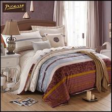 毕加索家纺床上用品 简约四件套全棉贡缎 印花 冬季加厚4件套特价