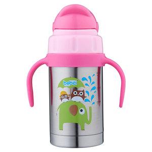 儿童保温杯带吸管手柄婴幼儿宝宝不锈钢喝水杯防漏带刻度260ml