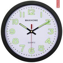 MAXHOME夜光静音客厅卧室钟表时尚简约创意挂钟餐厅挂壁墙钟包邮