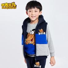 查看秋冬款大中小儿童装纯棉加绒卫衣套装加厚卡通外套男童三件套冬装