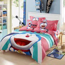 汉兰尊哆啦A梦四件套纯棉叮当猫被套机器猫床单卡通儿童床上用品
