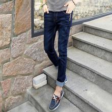 查看冬季修身弹力男士牛仔裤男小脚青年韩版男装加绒小脚牛仔裤子长裤