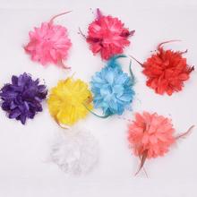 查看肚皮舞头花胸花装饰品 舞蹈花朵演出头花羽毛花