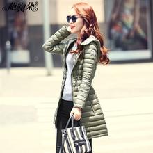 葩澜朵韩版羽绒服女款2017冬季新款修身轻薄羽绒衣中长款冬装外套