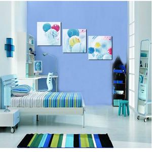 现代装饰画无框画简约家居客厅卧室壁画餐厅墙画版画挂画蓝色小球