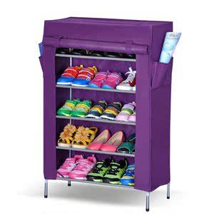 简布衣柜组装鞋柜人气排行 大容量布衣柜多层创意防尘简易鞋柜宿舍铁