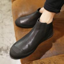 查看艺呈2015新款马丁靴男加绒英伦冬季男士真皮短筒皮靴短靴软皮男鞋