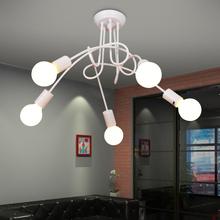 艺术创意个性灯具吸顶灯异形铁艺简约时尚北欧灯韩式卧室灯后现代