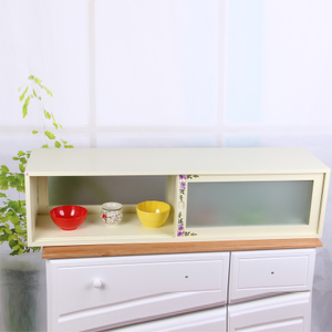 柜 厨房收纳柜储物柜 餐边柜碗橱柜价格:$190元-木质小厨柜人气排