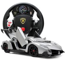美致兰博基尼毒药遥控车超大方向盘重力感应充电遥控汽车儿童玩具