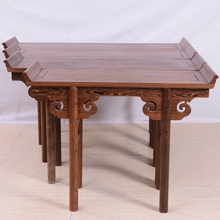 鸡翅木翘头案明清古典条案红木神台中式条桌条几实木案几仿古供桌