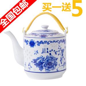 景德镇陶瓷茶壶耐热大容量凉水壶大号青花冷水壶提梁壶泡茶壶瓷壶