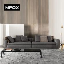 MFOX新款北欧简约现代皮艺沙发三人沙发四人组合布艺沙发8003A