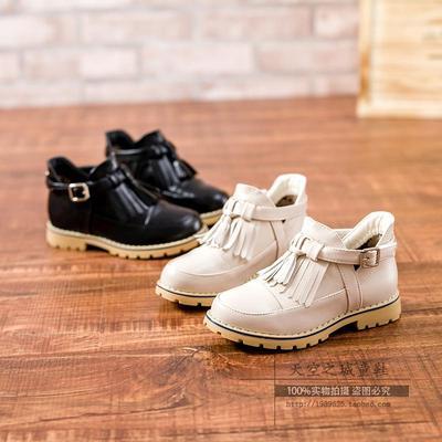 2015秋季儿童单鞋韩版女童罗马单鞋英伦风雕花流苏漆皮皮鞋方口鞋