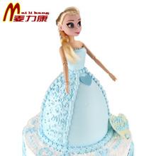 麦力康冰雪艾莎皇后奇缘娃娃人偶创意生日蛋糕北京蛋糕店配送定做