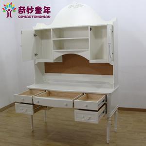 木书桌简约欧式书柜书架组合卧室储存柜书橱写字台价格:$5580元
