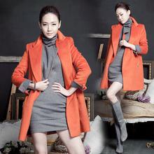 查看韩国代购2015冬装新款韩版加厚中长款毛呢外套大码女高端羊绒大衣