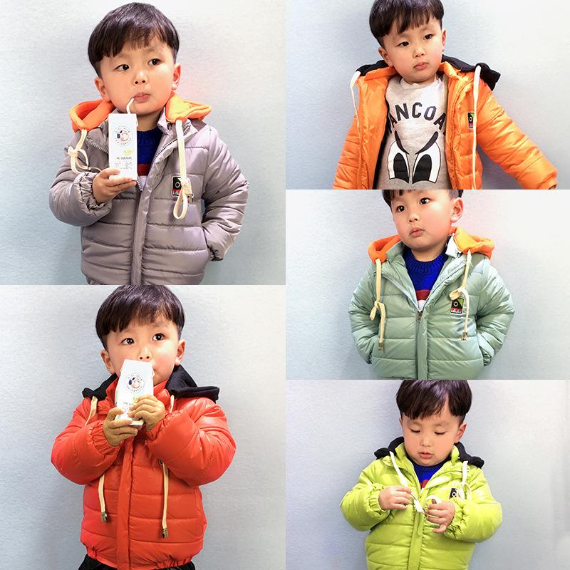 2015新款韩版儿童羽绒棉服小童2-7女童男童轻薄款羽绒棉衣外套潮