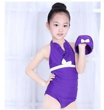查看海依珊2014新儿童韩国连体裙式专业i游泳衣女大小童可爱泳帽套装