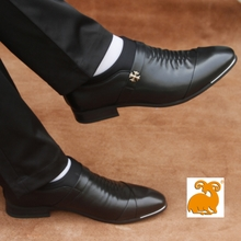 查看公羊金品2015新款时尚男士真皮商务正装皮鞋 男韩版潮流尖头正品