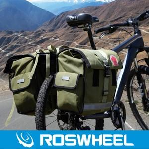 乐炫二代远征山地自行车驮包单车骑行货架包川藏线帆布驼包14686价