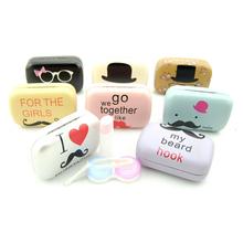 时尚隐形眼镜盒 伴侣盒 美瞳 隐形眼镜护理盒 摩登风格 双联盒