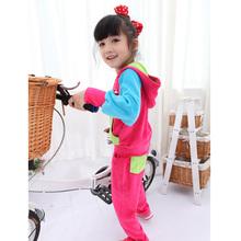 专一2017韩版女童秋冬季天鹅绒宝宝时尚外出休闲运动套装儿童装潮