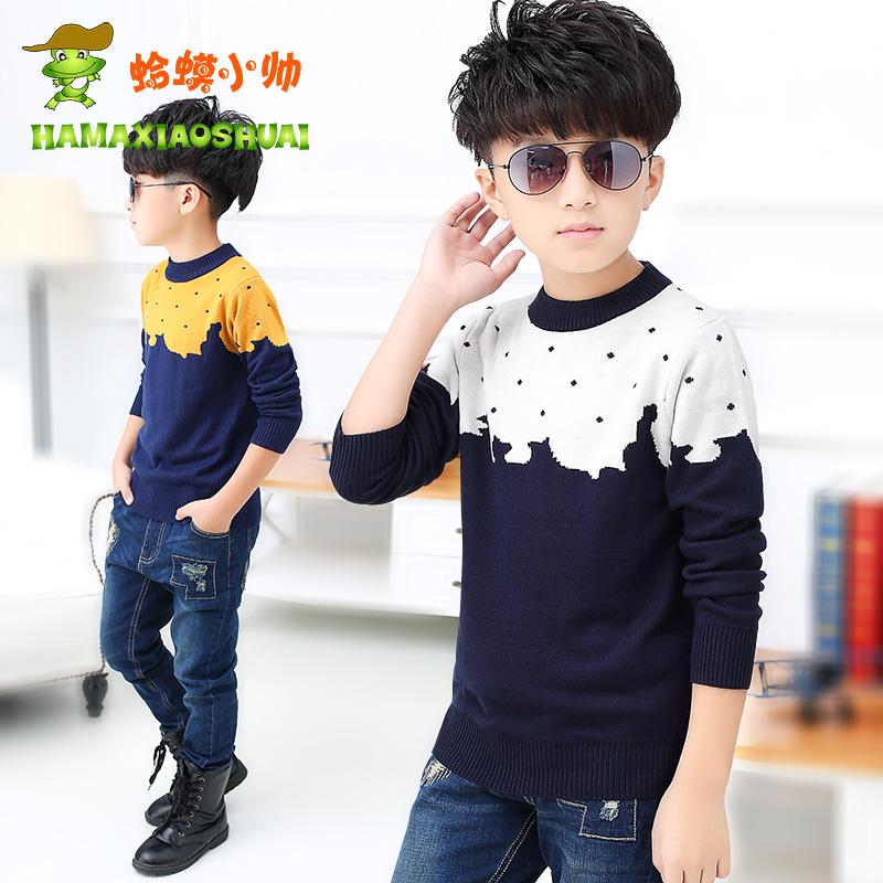 童装男童毛衣套头儿童加厚针织打底衫中大童秋冬款上衣潮线衣毛衫