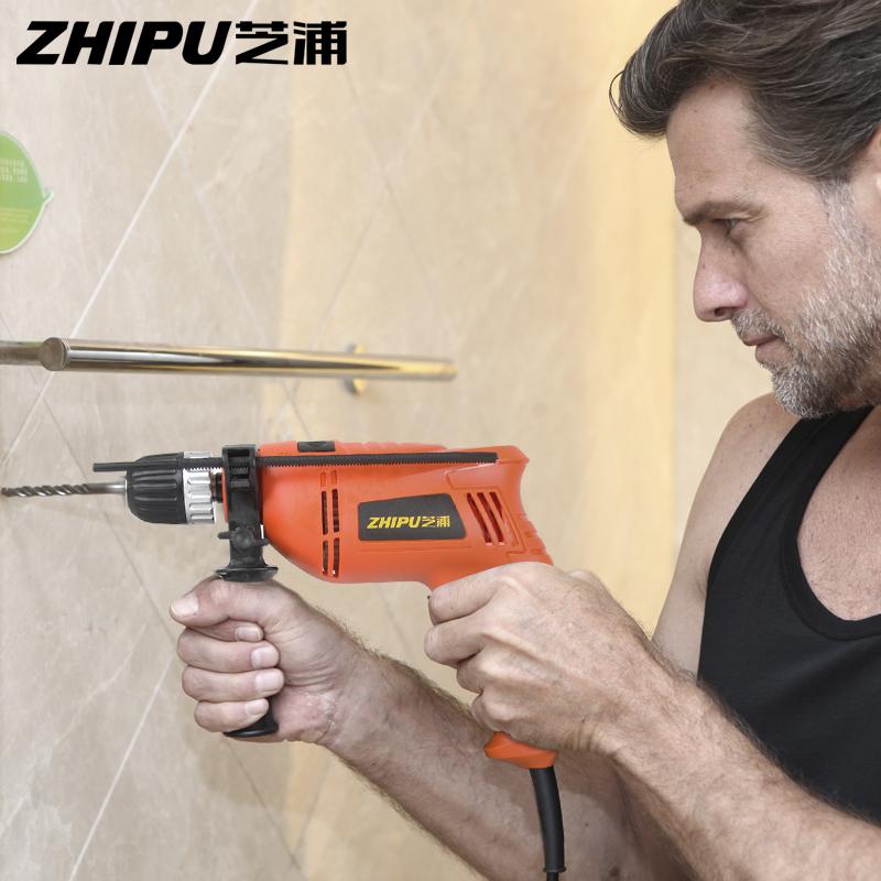 芝浦冲击钻 多功能电钻两用手电钻电锤套装家用微型电动工具