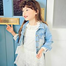 查看女童牛仔外套上衣韩版2016新款潮女宝宝童装开衫花边儿童春秋外套