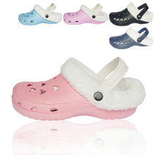 查看秋冬款男女情侣鞋简易可拆两用包头鞋花园鞋洞洞鞋保暖棉拖鞋棉鞋