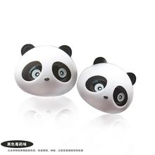 米奇卡通空调出风口粒粒香球 可爱熊猫汽车车载车用香膏香水香薰