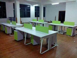 办公电脑桌福田人气排行 深圳龙华办公家具新款职员桌电脑桌卡座福田