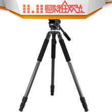 捷洋碳纤维三脚架JY0509C液压阻尼云台摄像便携碗口脚架0509 打鸟