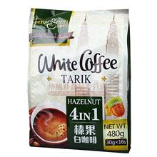 1包包邮 马来西亚进口名馨4合1榛果味即速溶白咖啡480g/16条