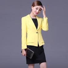 羽夏小西装女外套长袖潮2017秋装新款韩版百搭短款修身西服潮